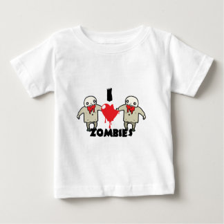 i love zombies character design with heart baby T-Shirt