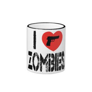 I Love Zombies Coffee Mug