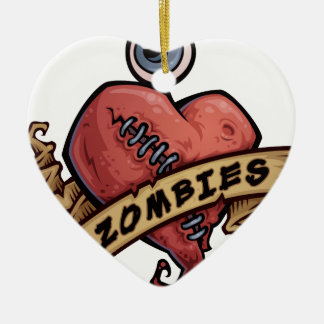i love zombies eye and heart design christmas ornament