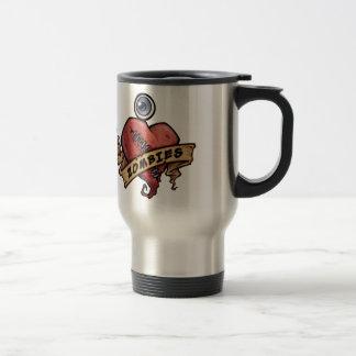 i love zombies eye and heart design coffee mug