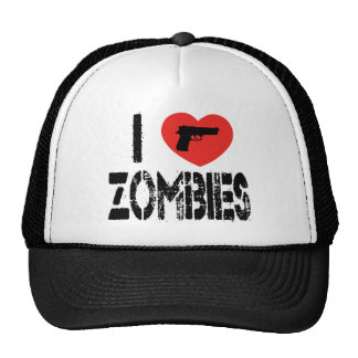 I Love Zombies Hats