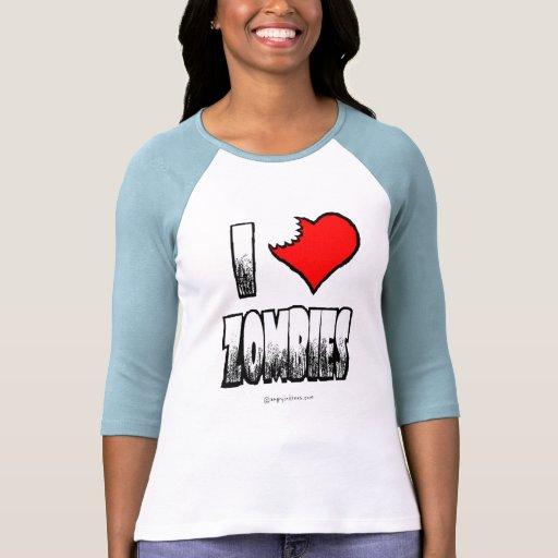 I Love Zombies Jr Raglan T-shirt