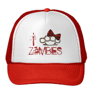 I Love Zombies-KnuckleBow Mesh Hat