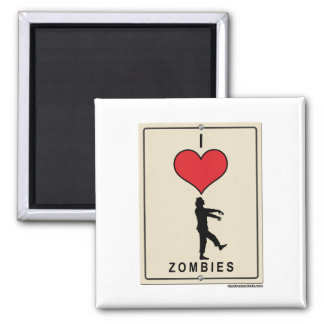 I Love Zombies Magnet