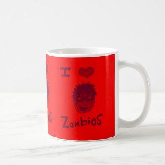 i love zombies coffee mugs