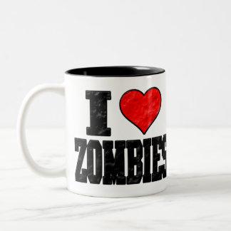 I Love Zombies Mugs