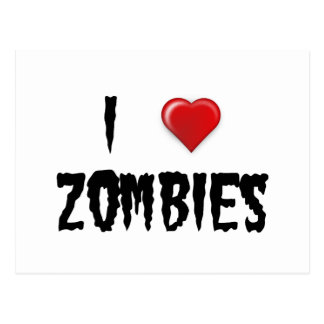 I Love Zombies Postcard