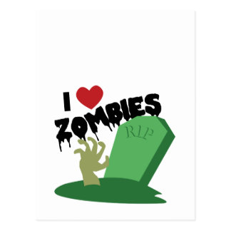 I Love Zombies Post Card