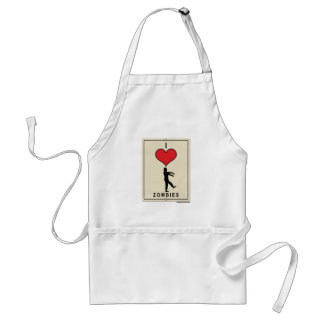 I Love Zombies Standard Apron