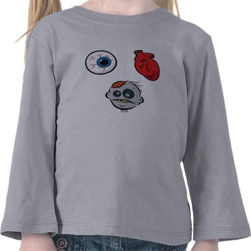 I Love Zombies Toddler Long Sleeve Tee Shirts