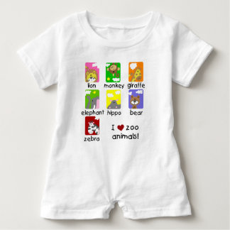 I Love Zoo Animals Baby Raglan T-shirt
