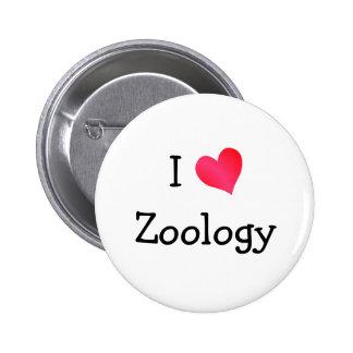 I Love Zoology 6 Cm Round Badge