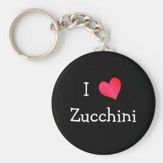 I Love Zucchini Basic Round Button Key Ring