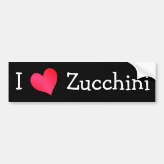 I Love Zucchini Bumper Sticker