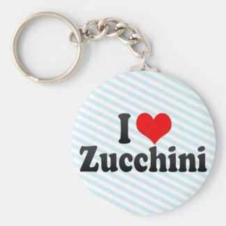 I Love Zucchini Key Ring