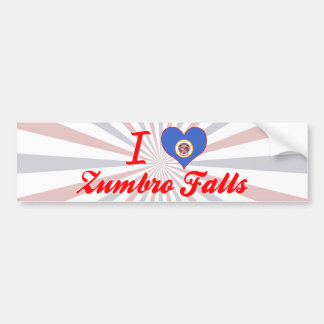 I Love Zumbro Falls, Minnesota Bumper Sticker