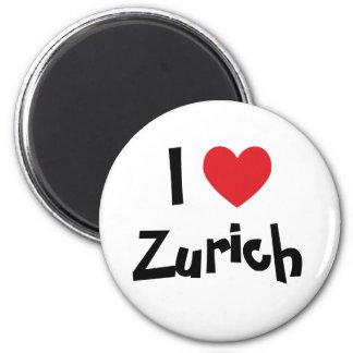 I Love Zurich 6 Cm Round Magnet