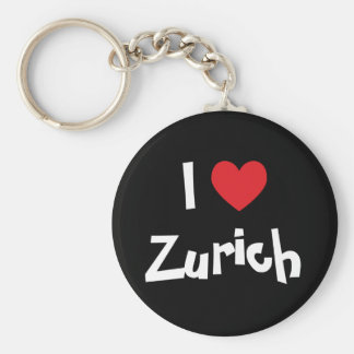 I Love Zurich Basic Round Button Key Ring