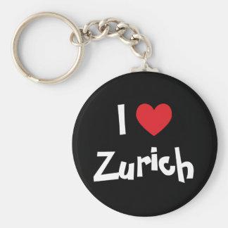 I Love Zurich Basic Round Button Key Ring