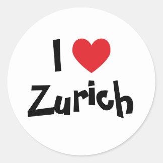 I Love Zurich Round Sticker
