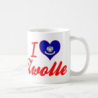 I Love Zwolle, Louisiana Basic White Mug