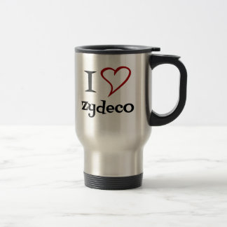 I Love Zydeco Stainless Steel Travel Mug