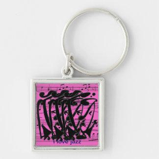 i love zz Abstract Key Ring
