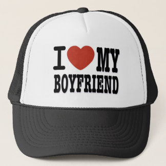 I LOVEMY BOYFRIEND TRUCKER HAT