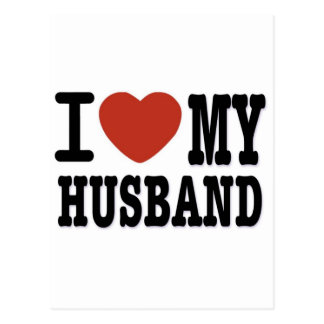 I LOVEMY HUSBAND POSTCARD