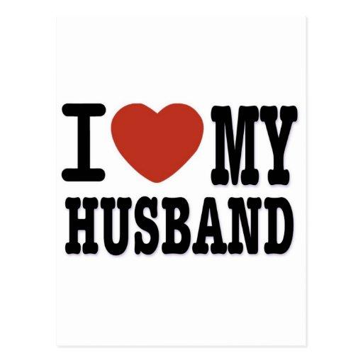 I LOVEMY HUSBAND POST CARDS