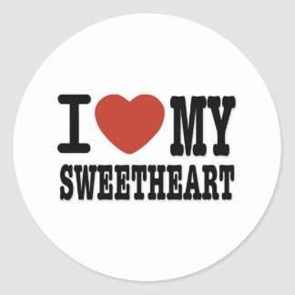 I LOVEMY SWEETHEART ROUND STICKERS