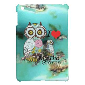 I-Lovemybigsister Owl Hard shell iPad Mini Case