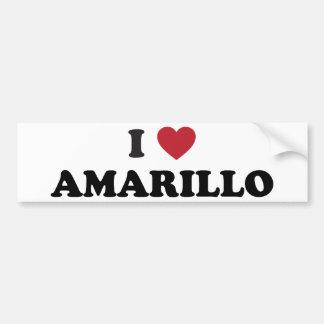 I Lover Amarillo Texas Bumper Sticker