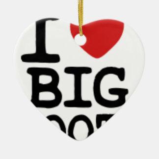 I LOVGE BIG BOOTY CERAMIC HEART DECORATION