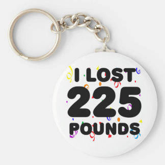 I Lpst 225 Pounds Party Basic Round Button Key Ring