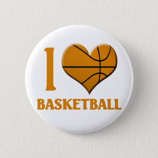 I Luv Basketball 6 Cm Round Badge