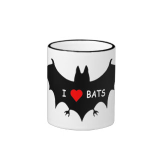 I Luv Bats Ringer Mug