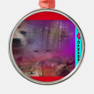 I Luv Canada Christmas Ornament