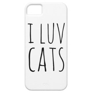 I Luv Cats Cover For iPhone 5/5S