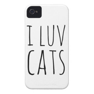I Luv Cats iPhone 4 Case