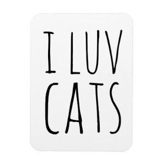 I Luv Cats Flexible Magnet