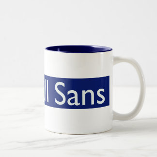 I luv Gill Sans Two-Tone Coffee Mug