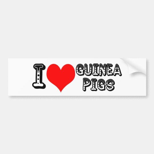 I luv guinea pigs bumper sticker
