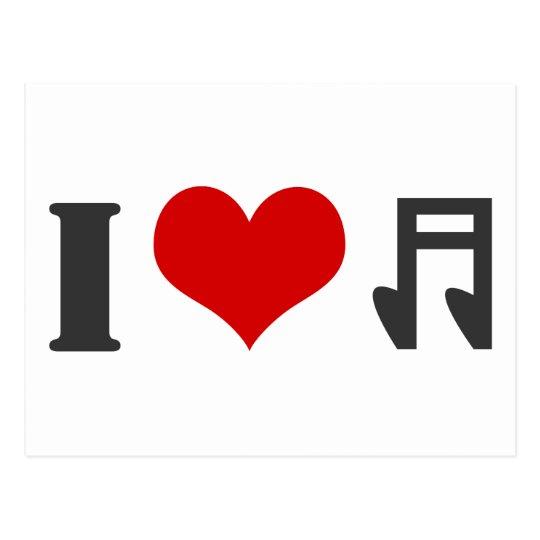 I Luv Music Postcard