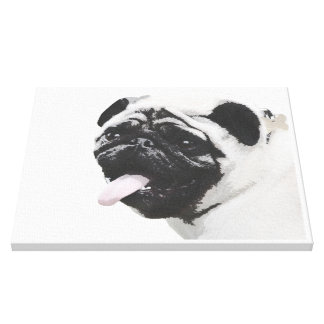 I Luv My Pug Gallery Wrapped Canvas