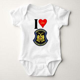 I LUV the MSHP Baby Bodysuit