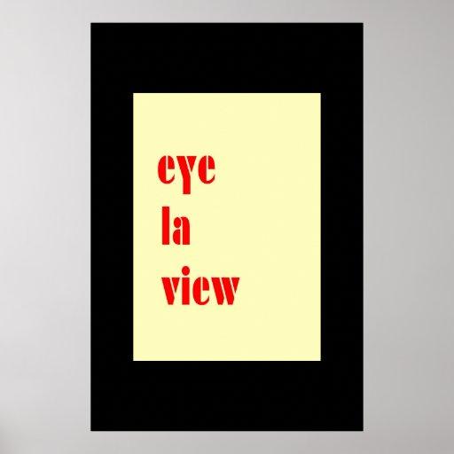I LUV U Card  Poster