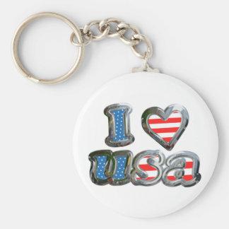 I Luv USA Key Chains