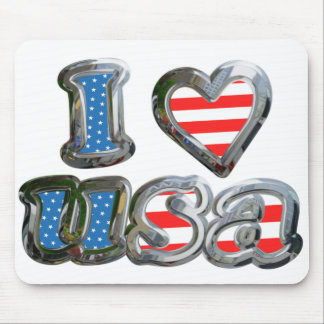 I Luv USA Mouse Mat
