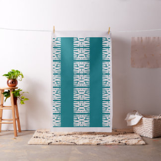 I Luv You African Tribal Pattern Design Fabric